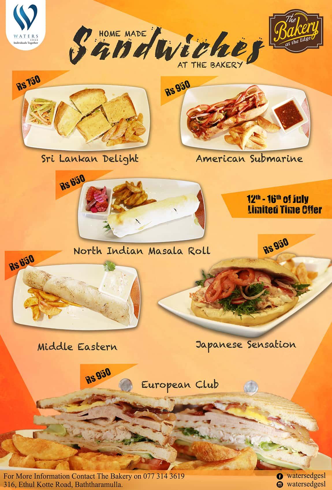 Bakery Sandwich Promotion