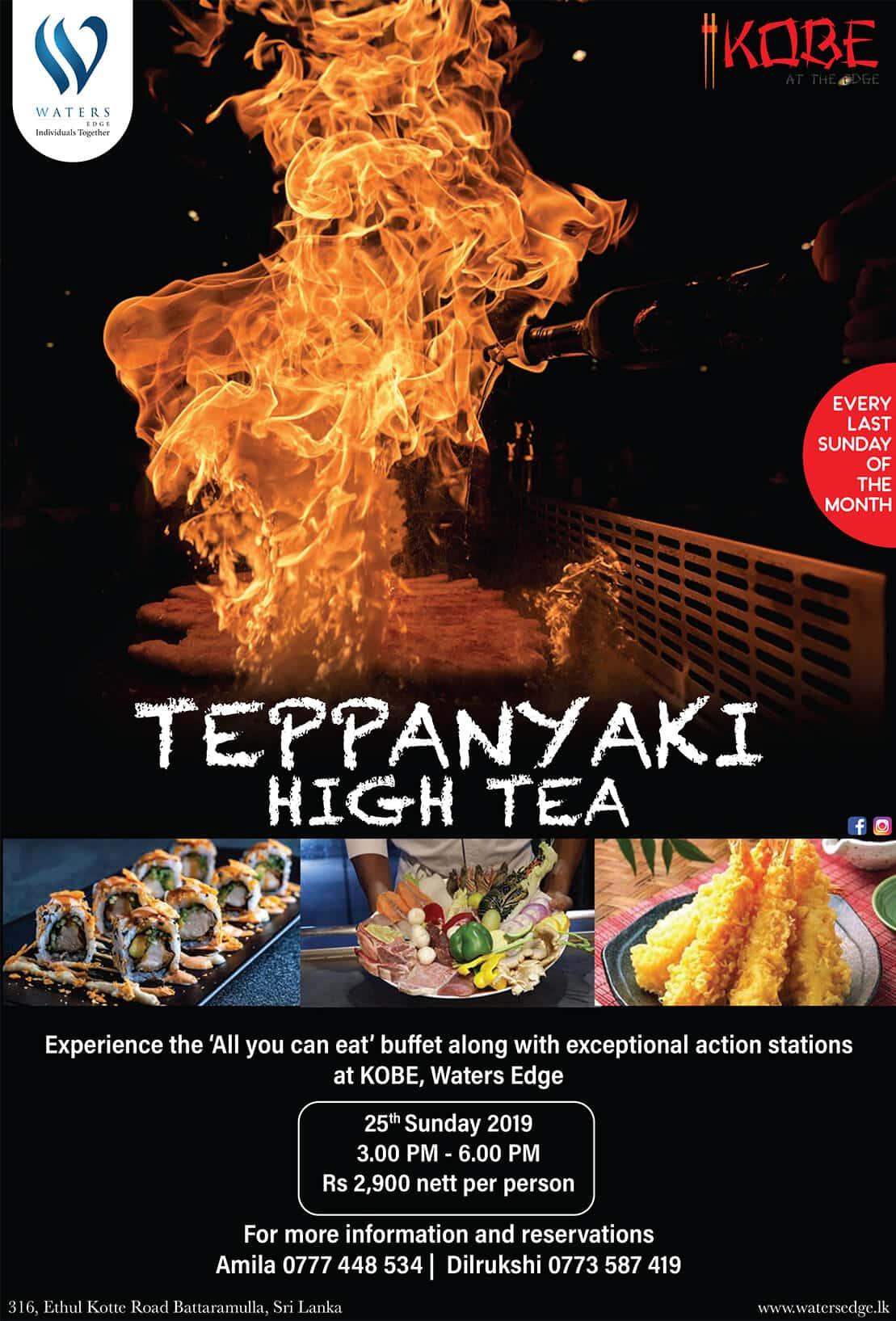 Teppanyaki high tea